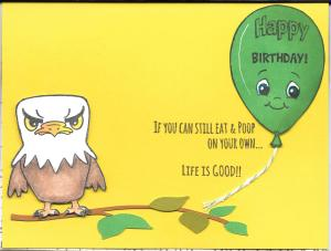 Billy's BD card inside