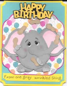 Elephant BD card front