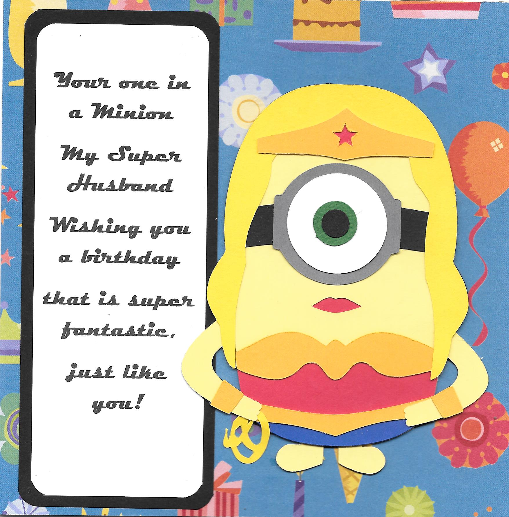 Minion birthday card roberta stevensons super woman minion hb in 300 dpi bookmarktalkfo Image collections