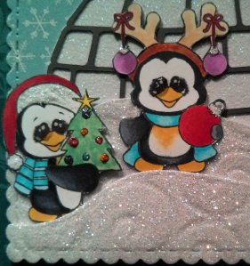 Christmas Penguins - Igloo - Close Up