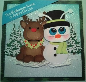Cricut Snowman and Reindeer3